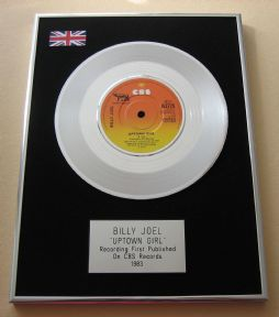BILLY JOEL - UPTOWN GIRL PLATINUM Single Presentation DISC